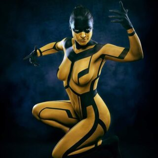 One of my last shootings of 2019 — one more to go and I'm up to date again. No Tron nor Kill Bill inspiration intended, but I can't help to see it now. 🧐 👉Share if you like!👈 #bodypainting #bodyart #shootingoftheday #artoftheday #tron #kilbill #posing #photography #photoshop #bodypaint #yellow #bodysuit #modelling #art #toomanyhashtags