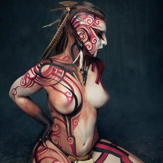 I keep forgetting to post here... Eventually here's one of my most recent pics 🙂 #artoftheday #bodypainting #modelling #bodyart #tribal