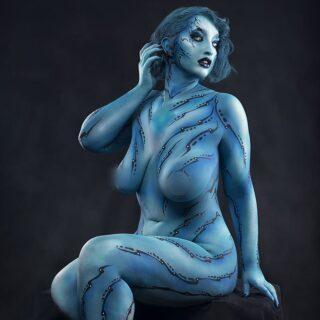 Mermaid #shootingoftheday #shooting #bodypainting #bodyart #bodypaint #modelephoto #picoftheday #posing #mermaid #blue #modelling #bodypositive #photography #studio